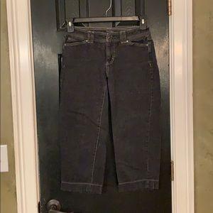 WHBH black crop Capri jeans 2 blanc